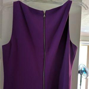 Tahari fully satin lined Lilac colored sheath